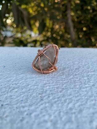 Feldspar Quartz Adjustable Ring