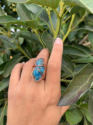 Blue Apatite Adjustable Ring