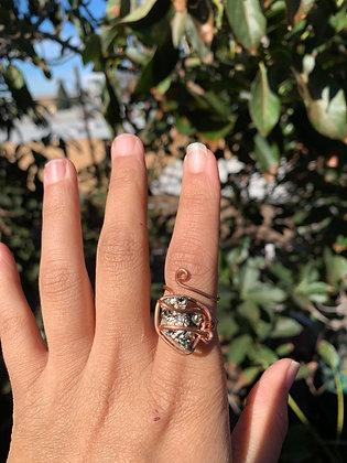 Pyrite Adjustable Ring 03