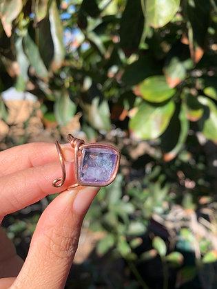 Blue Fluorite Adjustable Ring 01