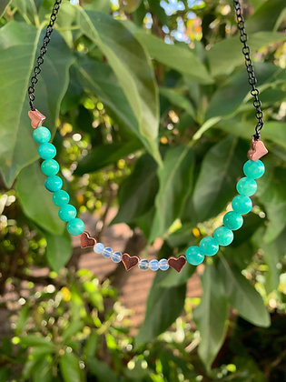 Amazonite Choker (Chained Pictured)
