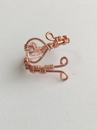 Quartz Healing Heart Ring