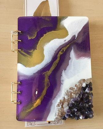 Amethyst Resin & Healing Notebook