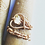 Thumbnail: Clear Quartz Healing Heart Adjustable Ring