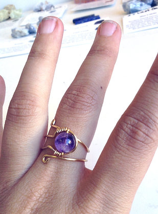Amethyst Adjustable Ring