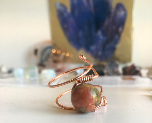 Unakite Adjustable Ring