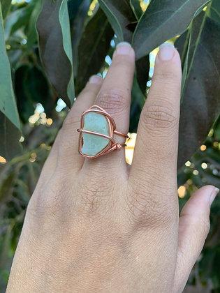 Aquamarine Adjustable Ring