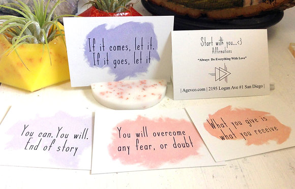 """""""Start With You...<3"""" Affirmation Cards"""