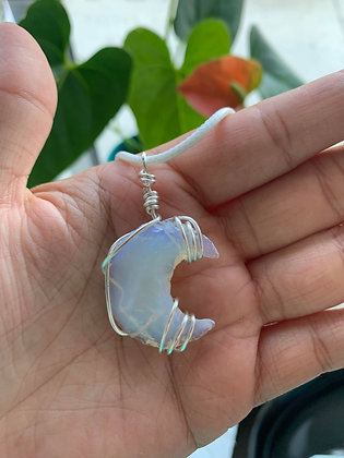 Opalite Moon Catcher Necklace