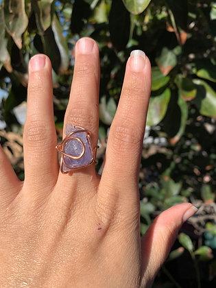 Blue Fluorite Adjustable Ring 02