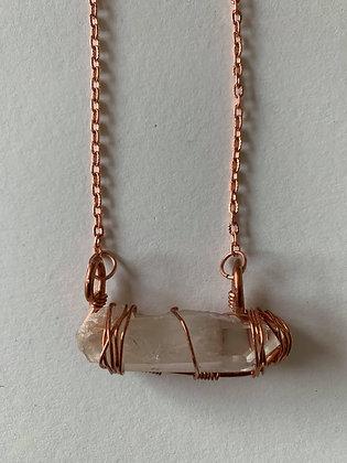 Clear Quartz Bar Necklace