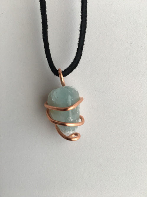 marine aqua necklace large aquamarine confetti gold kopia