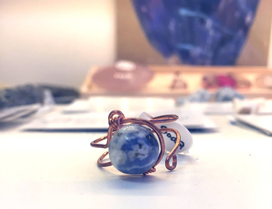 Sodalite Adjustable Ring