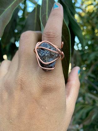 Smoky Quartz Adjustable Ring