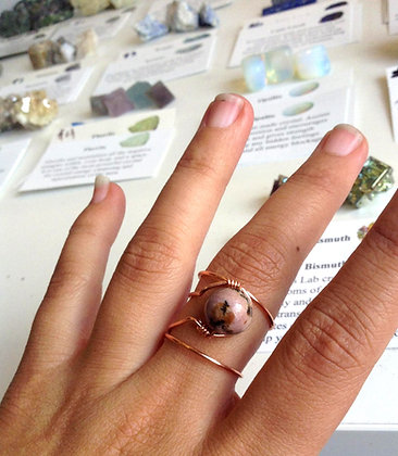 Rhodonite Adjustable Ring