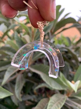 Pot of Gold Opalite Resin Earrings