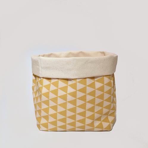 Stoffkörbchen (gelb / weiß) - L