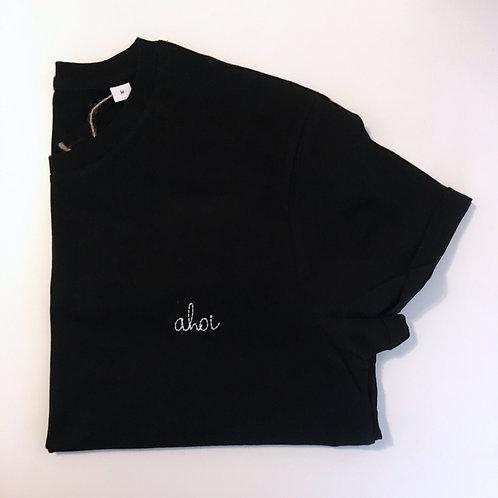 """Statement T-Shirt für Männer - """"ahoi"""" - 100% Bio-Baumwolle (schwarz)"""