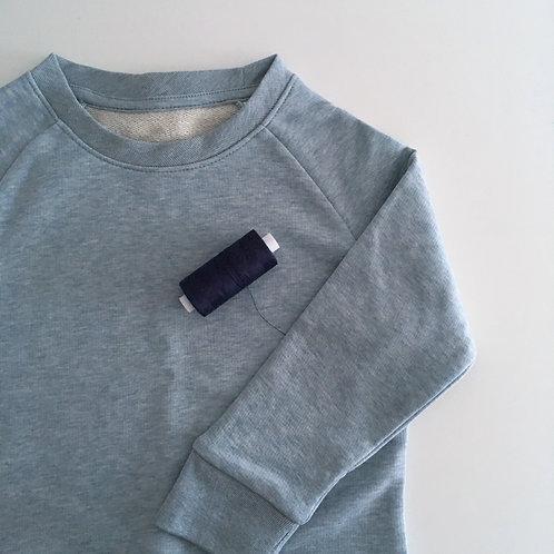 Personalisiertes Kinder Statement Sweatshirt - blau - 100% Bio & Fair