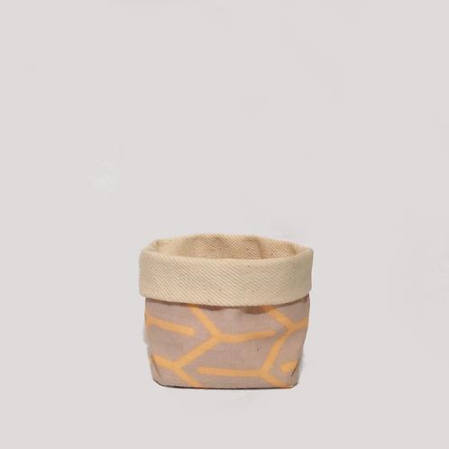 Stoffkörbchen (orange / grau) - S