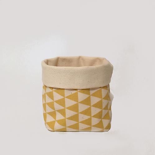Stoffkörbchen (gelb / weiß) - M