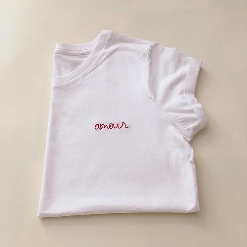 """Statement T-Shirt für Frauen - """"amour"""" - 100% Bio-Baumwolle"""