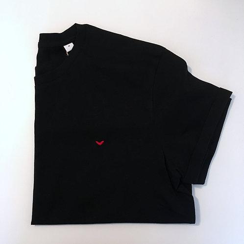 Statement T-Shirt für Männer - Herz - 100% Bio-Baumwolle (schwarz)