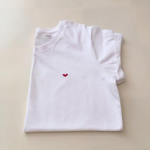 Statement T-Shirt für Frauen - Herz - 100% Bio-Baumwolle