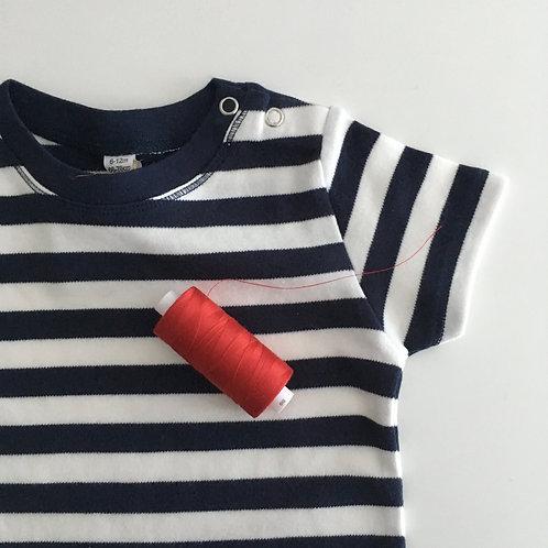 Personalisiertes Statement stripy MiniShirt - 100% Baumwolle