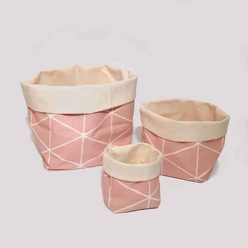 Stoffkörbchen (rosa) - Set