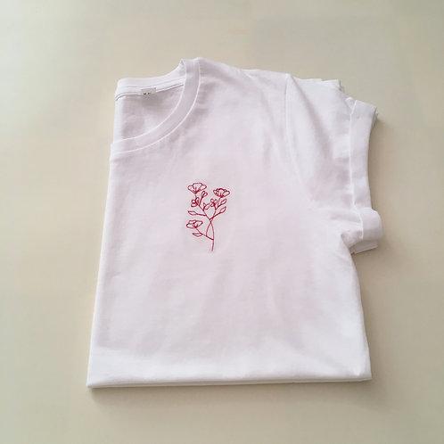 Statement T-Shirt für Frauen - Blumen - 100% Bio-Baumwolle