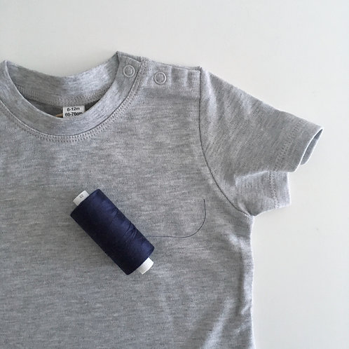 Personalisiertes Statement Mini Shirt grau - 100% Baumwolle