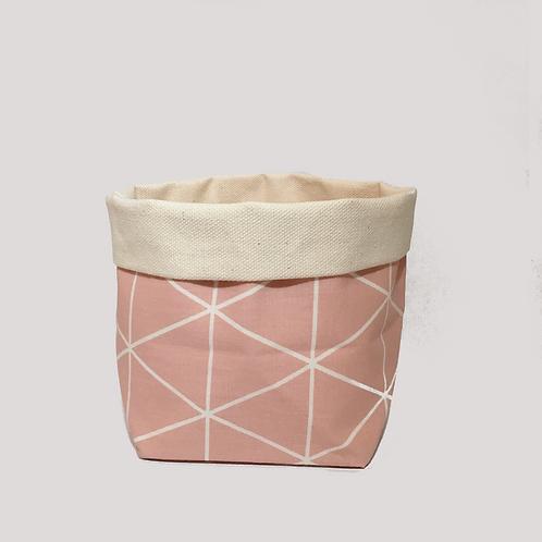 Stoffkörbchen (rosa) - L