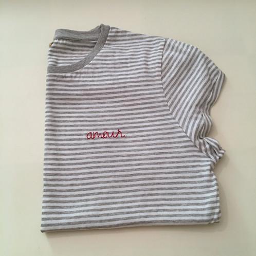 Statement T-Shirt für Frauen (gestreift) - \