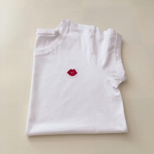 Statement T-Shirt für Frauen - Kuss - 100% Bio-Baumwolle