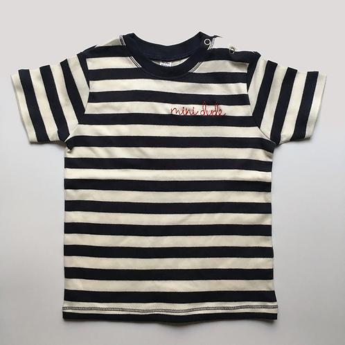 "Statement MiniShirt stripy ""mini dude"" - 100% Baumwolle"