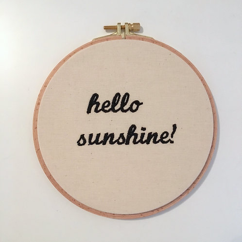 Stickrahmen - hello sunshine