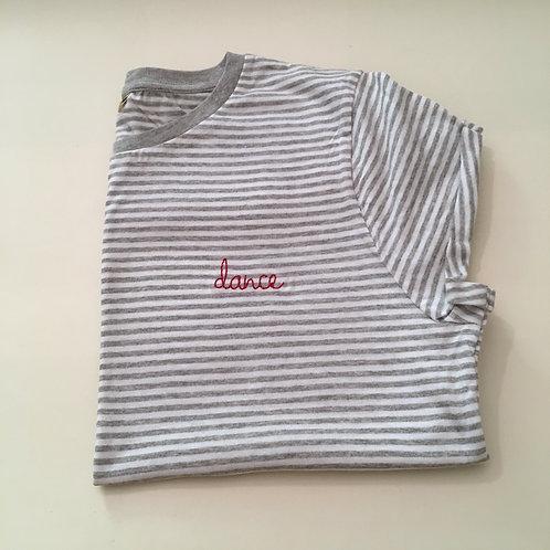 """T-Shirt für Frauen (gestreift) - """"dance"""" - 100% Bio & Fair"""