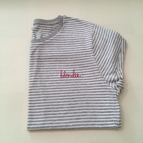 """T-Shirt für Frauen (gestreift) - """"blondie"""" - 100% Bio & Fair"""