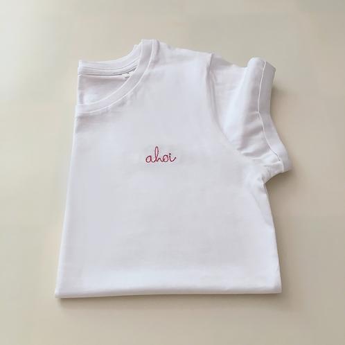 """Statement T-Shirt für Frauen -""""ahoi""""- 100% Bio-Baumwolle"""