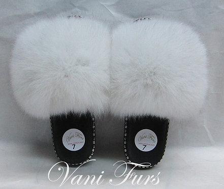 White Fox Slippers