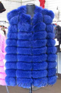 Midnight blue fox vest