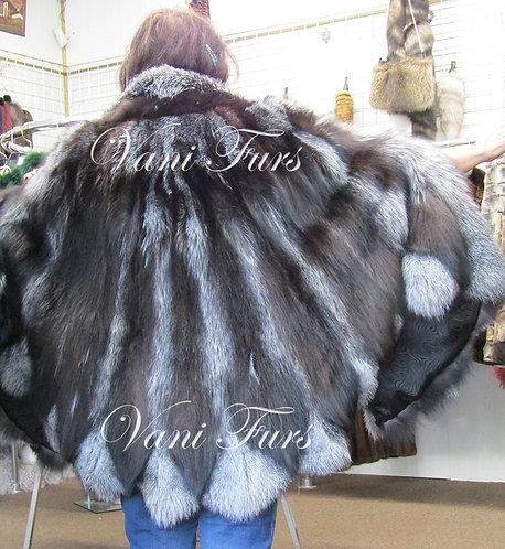 Silver fox cape