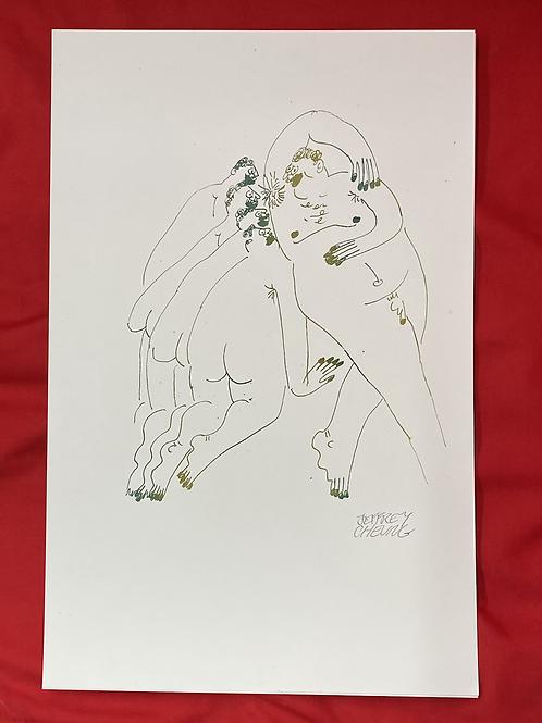 """""""Pits"""" 11x17 risograph print"""