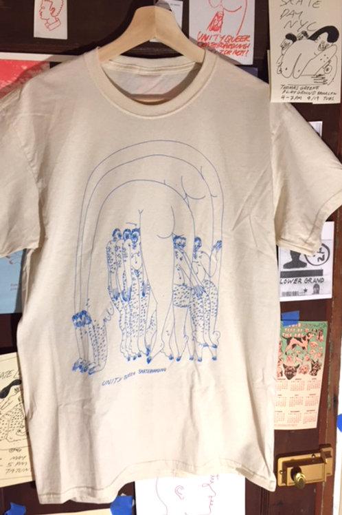 "Unity Queer Skateboarding T Shirt ""Bridge"""