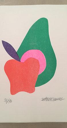 """""""Apple Avocado"""" Risograph"""