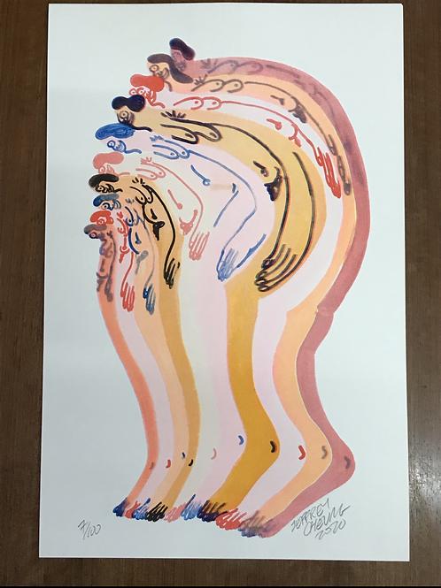 Pancake II Risograph Print