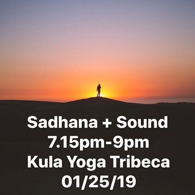 Sadhana + Sound Workshop.