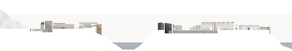 Section Drawing Photoshop Resomation Crematorium Church Design 3D