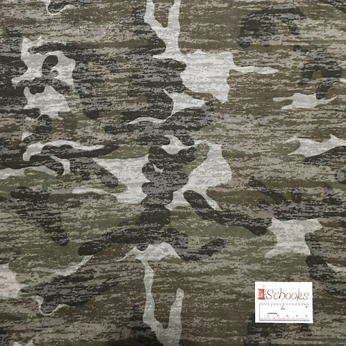 Camo Burnout - Poly Cotton Knit